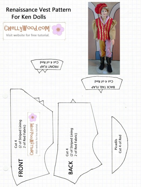 Vest Pattern for Ken Doll printable free