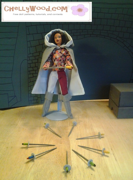 How to make swords and a medieval or renaissance cloak for Barbie dolls
