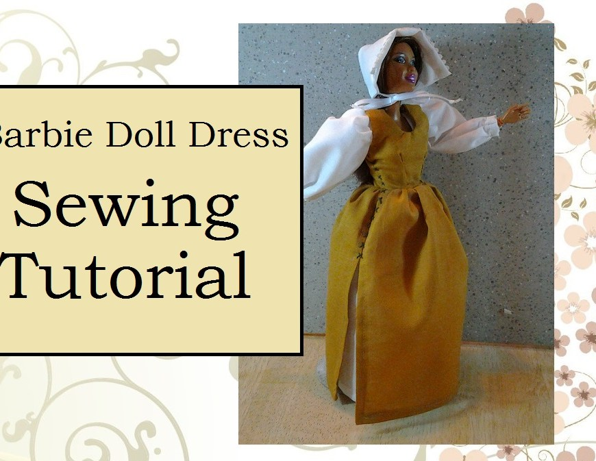 Header for video tutorial on how to sew a Barbie doll dress