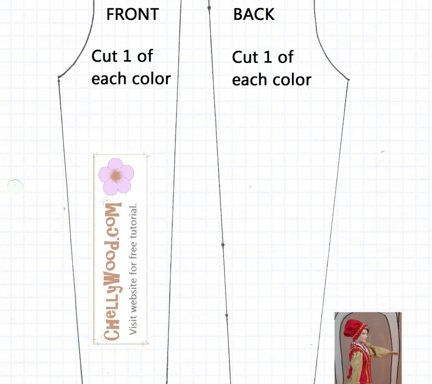 Sewing pattern for Ken doll pants