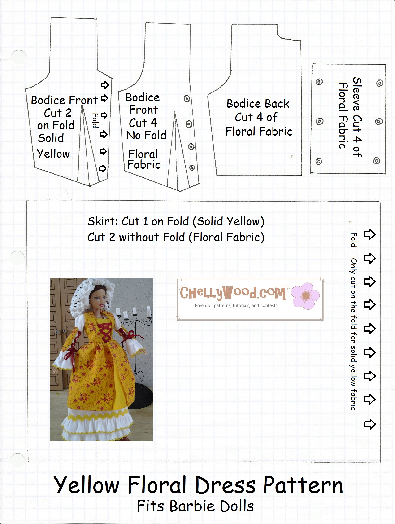 It is a picture of Printable Barbie Clothes Patterns with blouse