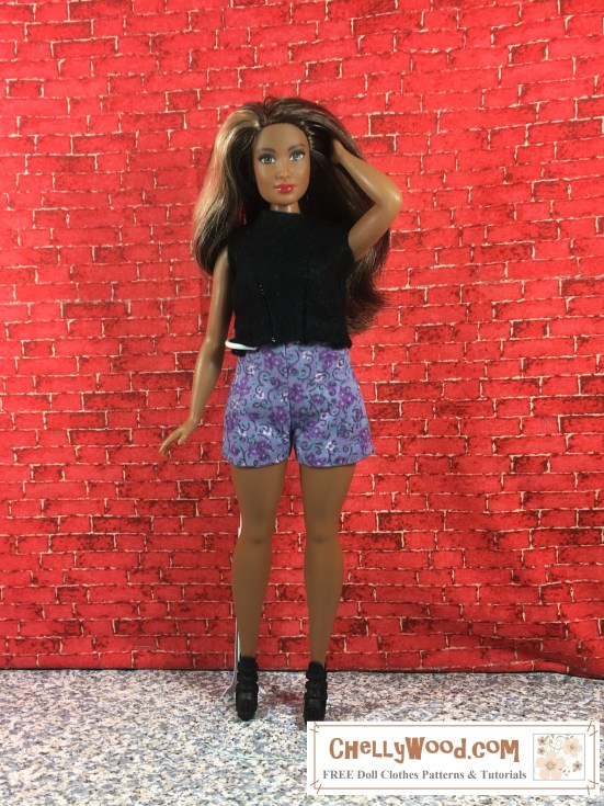 Click here for links to free, printable sewing patterns and tutorials for making this outfit: (Coming soon.)