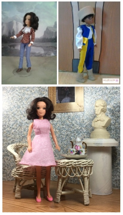 "This image shows a screenshot of the gallery where World of Love doll clothes patterns are displayed on ChellyWood.com. This website offers free printable sewing patterns for dolls like the vintage world of love dolls from hasbro, among other 9"" doll clothes patterns."