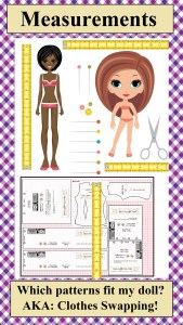 """As part of the """"Gallery"""" or Home page of ChellyWood.com, this image, when clicked, will take you through links to a page where you can find out whether or not your doll can swap clothes with other dolls. On ChellyWood.com, we call this #TapeMeasureTuesday"""