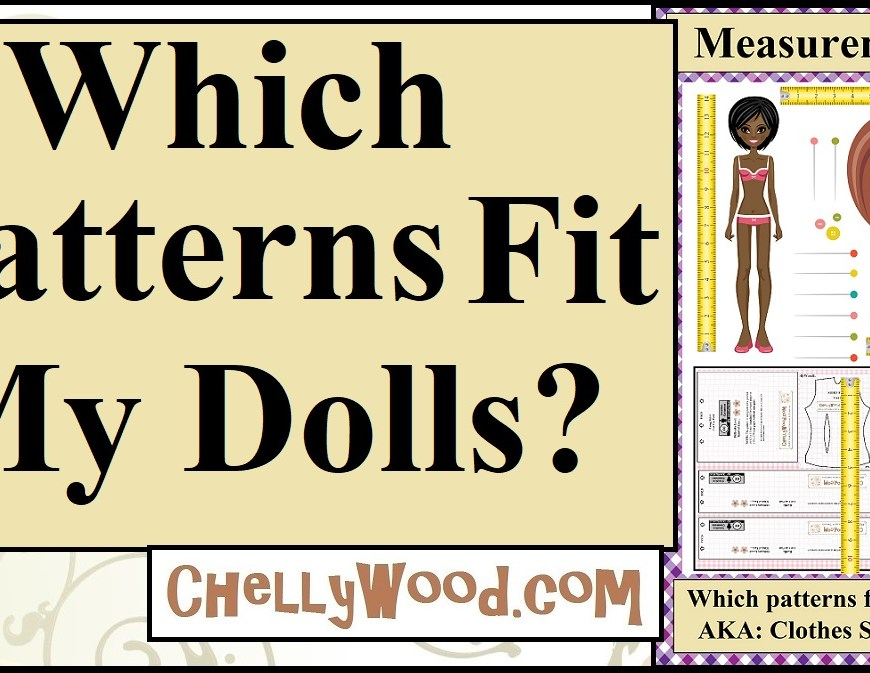 This is a YouTube video header for a video that shows you how to use the #TapeMeasureTuesday feature to locate a doll's measurements on ChellyWood.com