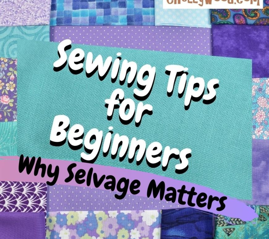Today's tutorial video explains how selvage is useful to people who sew doll clothes. This image is just a header indicating that this is a sewing tutorial for beginners.