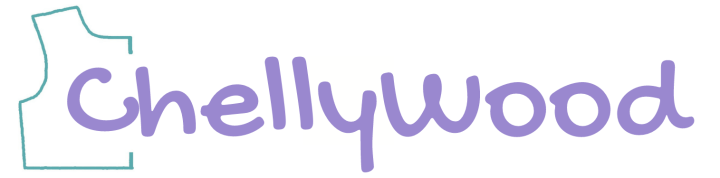 """Logo image for ChellyWood.com shows a bodice pattern with the name """"ChellyWood"""" embedded within it."""