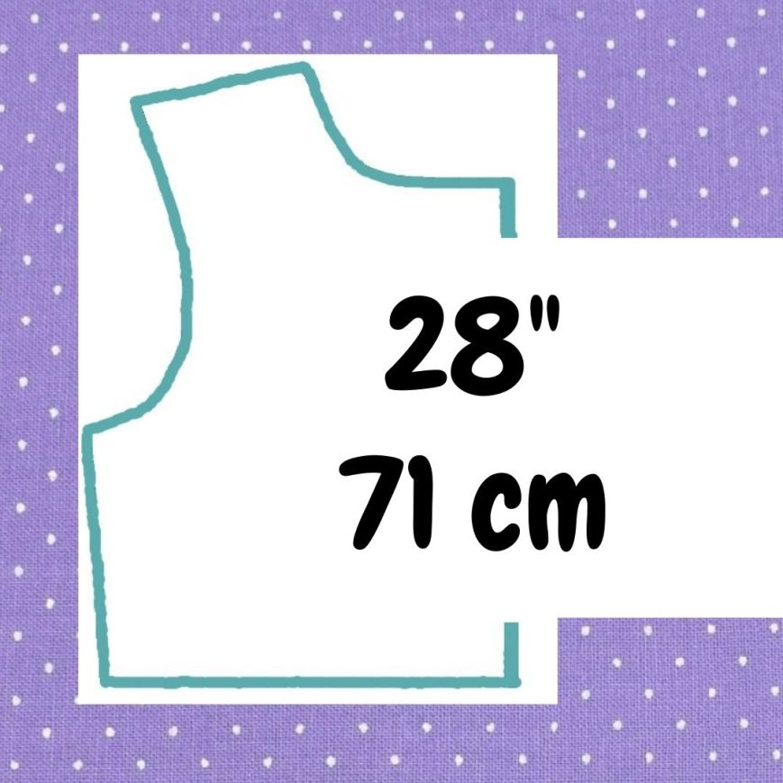 If your doll is 28 inches or 71 cm tall, click here please.