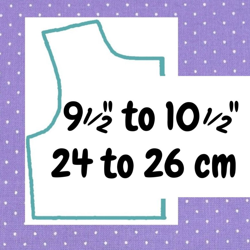 If your doll is 9 and a half inches to 10 and a half inches or 24 to 26 cm tall, click here please.