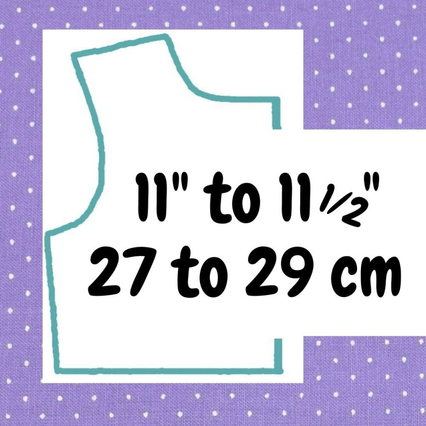 If your doll is 11 to 11 and a half inches or 27 to 29 cm tall, click here please.