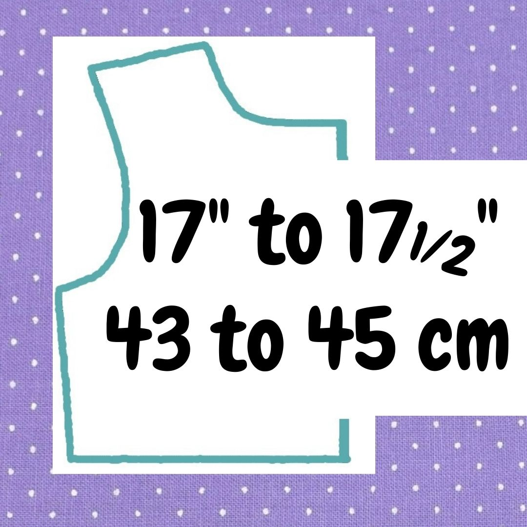 If your doll is 17 to 17 and a half inches or 43 to 45 cm tall, click here please.
