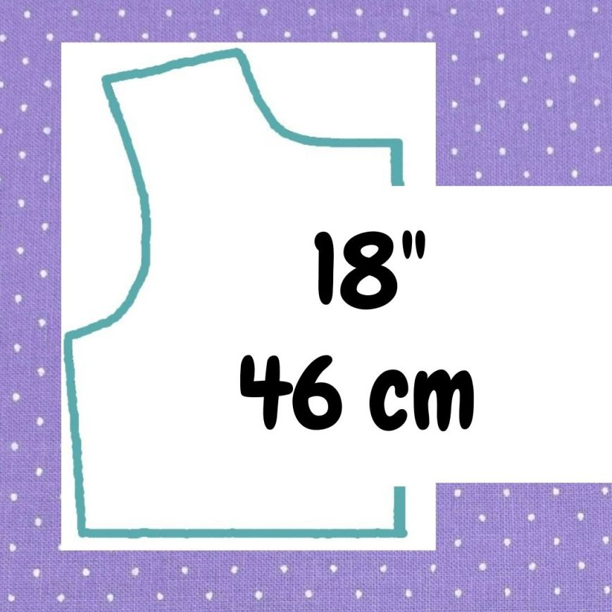 If your doll is 18 inches or 46 cm tall, click here please.