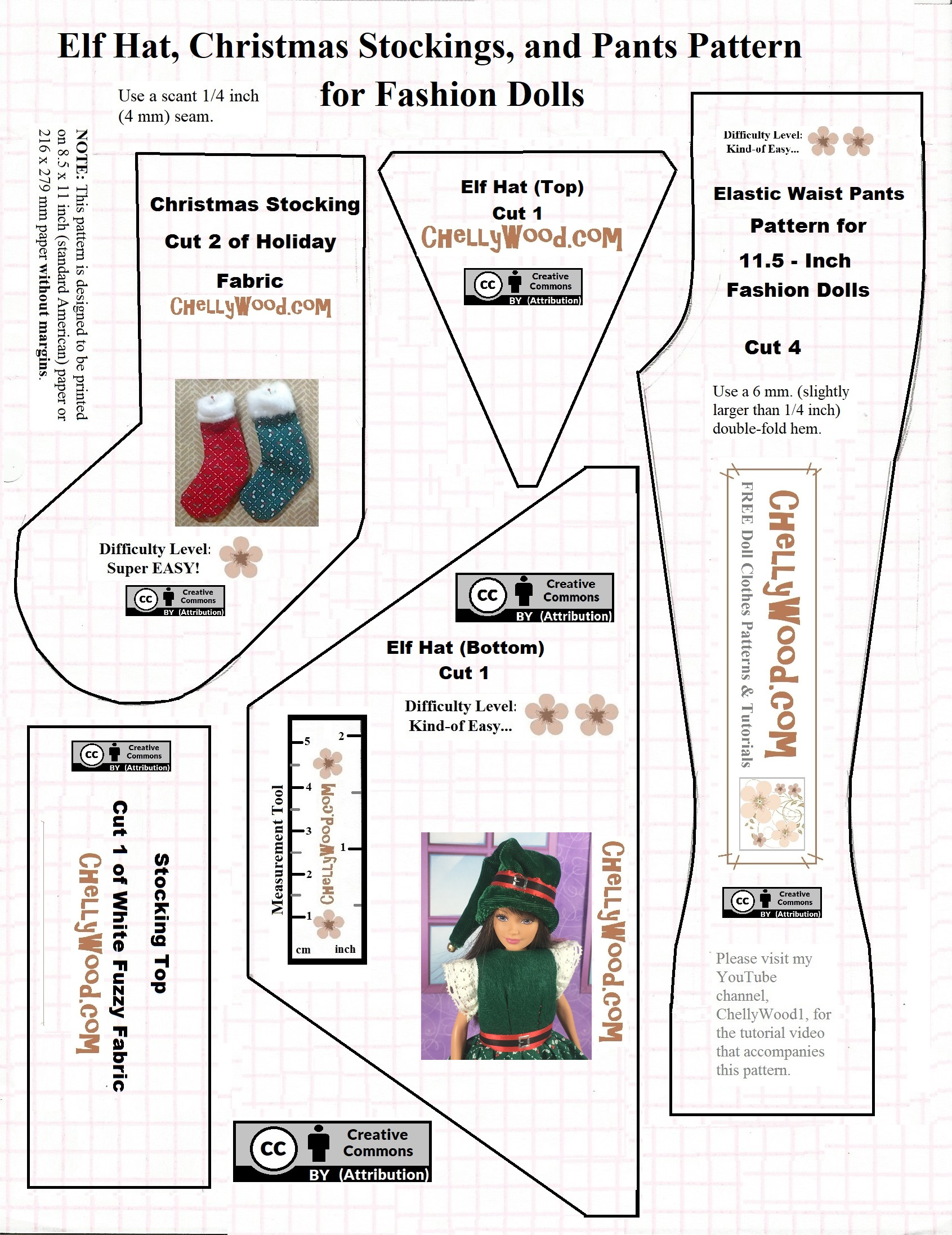 Free Holiday Sewing Patterns For Disney Princess Dolls
