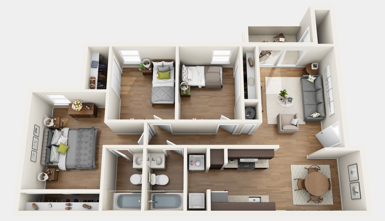 floorplans - chelsea apartments