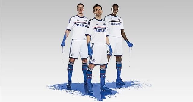 Adidas divulga camisa Away da temporada 13 14 - Chelsea Brasil cecade8803e4f