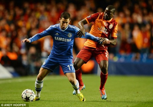 Hazard foi um dos destaques da equipe na partida.
