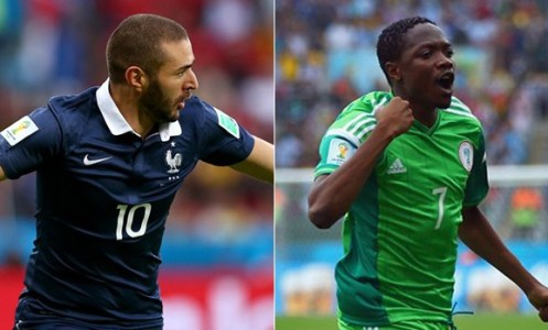 França é favorita, Nigéria quer surpreender (Foto: Rede Globo)