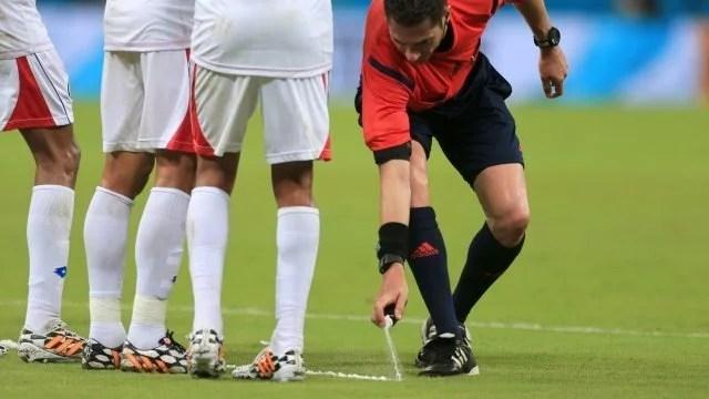 O spray foi usado durante a Copa do Mundo (Foto: Site Oficial)