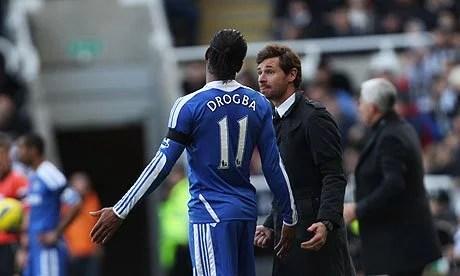 Drogba e Villas-Boas não tiveram boas relações (Foto: Getty Images)