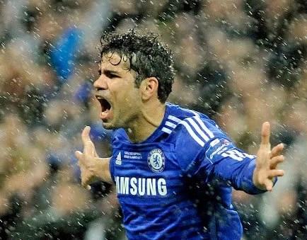 Gol na final da Copa da Liga finalmente foi dado a Diego Costa (Foto: Getty Images)