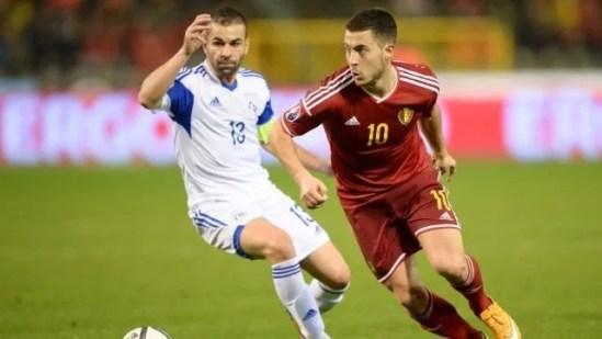 Hazard irá ser o capitão da Bélgica contra a seleção francesa (Foto: Chelsea FC)