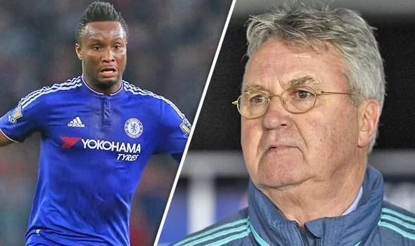 Mikel quer permanência de Hiddink no comando técnico do Chelsea (Foto: Chelsea FC)