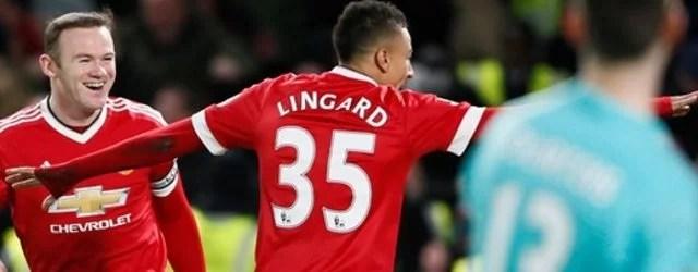 Comemoração de Lingard (Foto: Premier League)