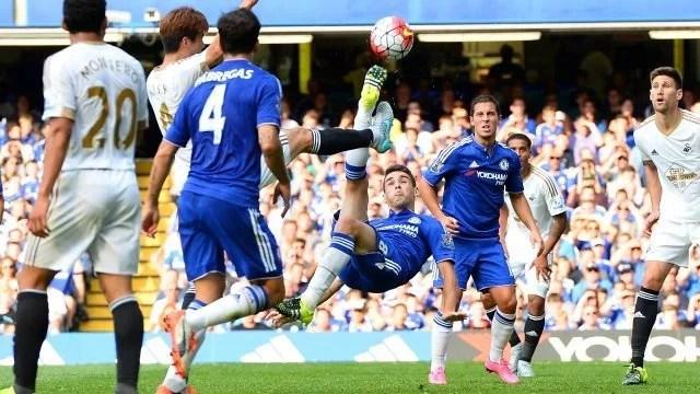 Oscar marcou no jogo do primeiro turno (Foto: Chelsea FC)