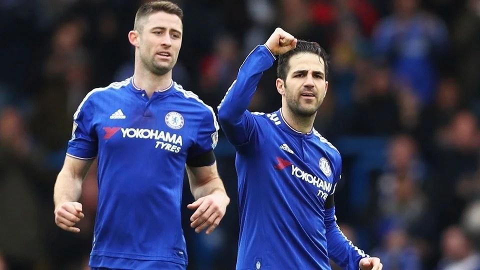 Fàbregas comemora segundo com e o Chelsea consegue empatar com o West Ham. (Foto: ESPN)