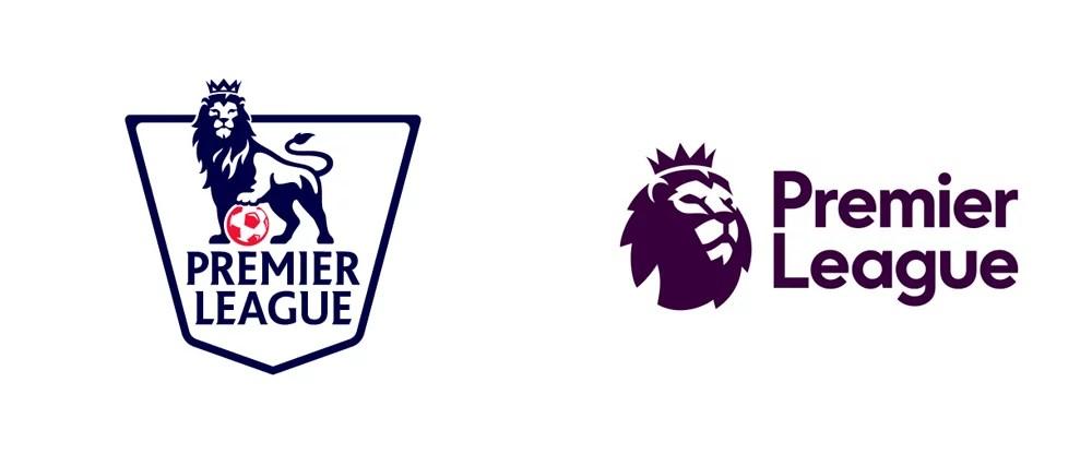 O velho e o novo logo da Premier League (Foto: Divulgação)