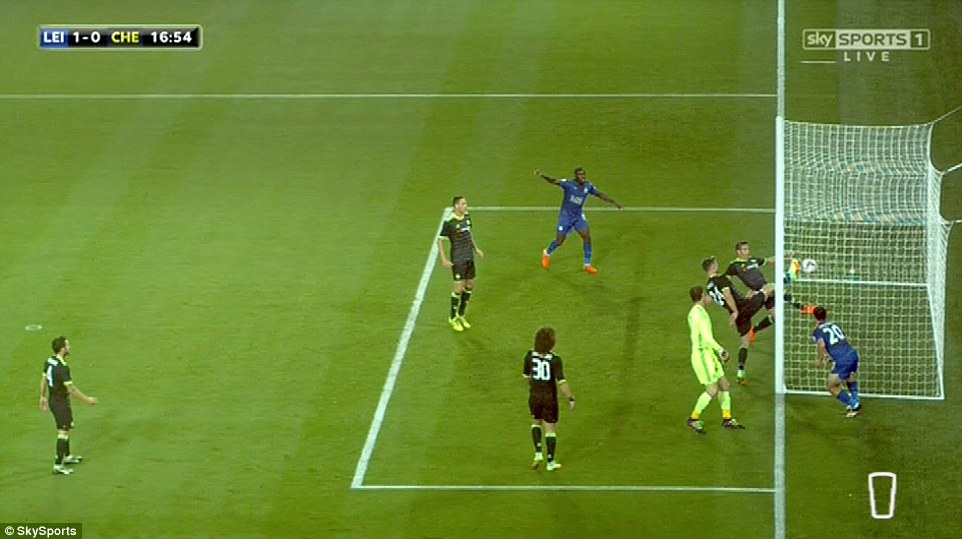 Tira-teima da televisão mostrou que a bola realmente entrou no primeiro gol