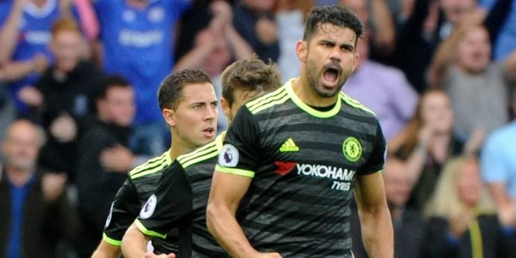 Diego Costa foi o grande destaque da partida, e o site oficial do Chelsea não poupou elogios ao atacante. (Foto: Chelsea FC)