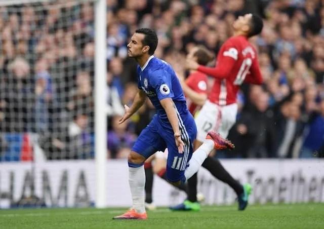 Pedro surpreende aos 31 segundos de jogo para abrir o placar. (Foto: Chelsea FC)