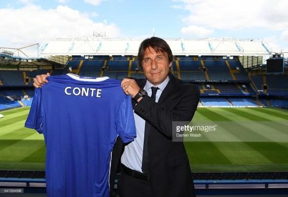Conte chegou bem cotado após boa Euro com a seleção italiana