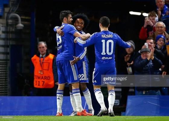 O trio ofensivo funcionou bem na vitória contra o Hull City por 2-0