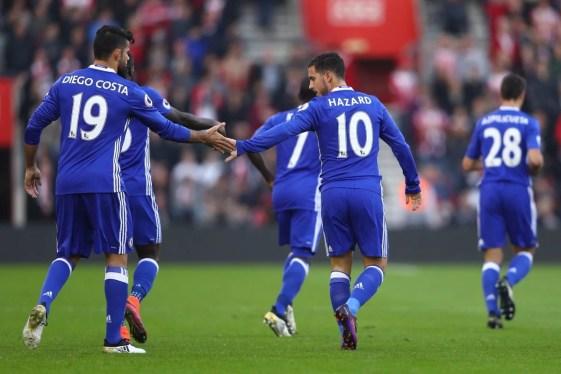 Hazard marcou dois na partida do último sábado (Foto: Reprodução site Premier League)