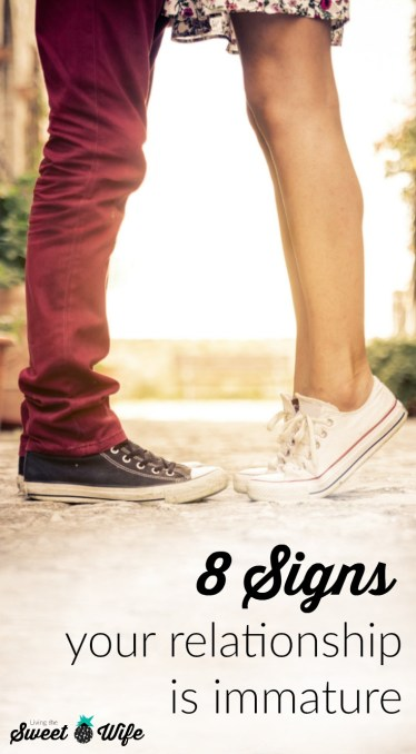 "Ever find yourself embarrassed because you just couldn't help having that fight over text? Or maybe you found yourself trying to ""get"" your significant other to do something rather than just asking. I've been there. And I think you've been there, too. Here are 8 signs your relationship in immature and how to take the steps towards maturity."