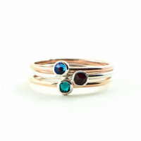 Stackable Birthstone Ring