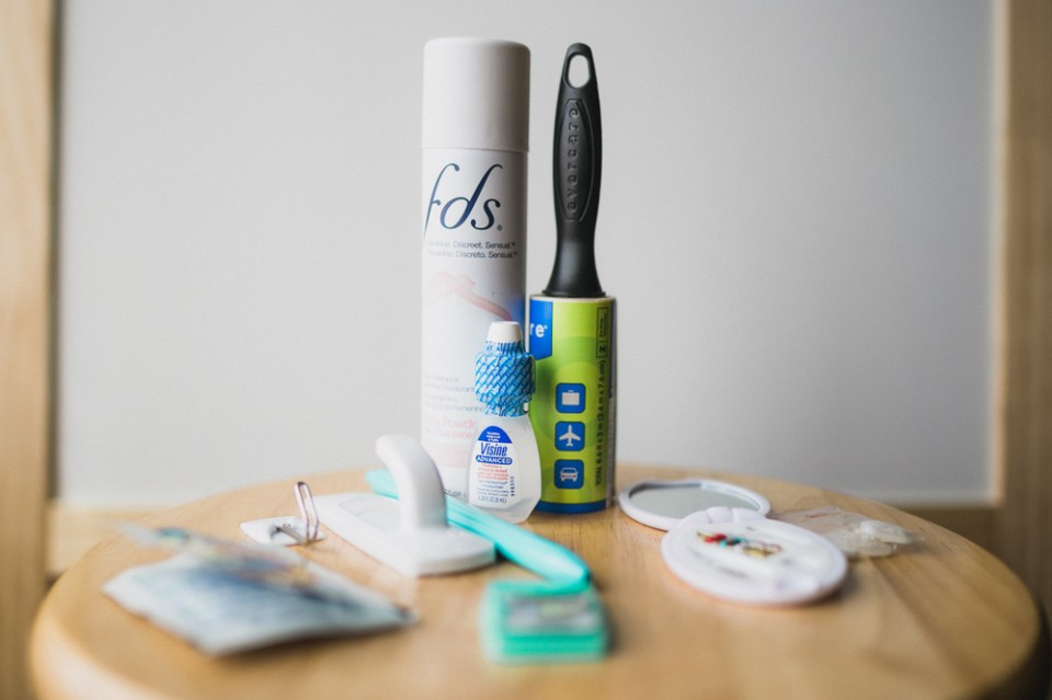 Wedding day emergency kit must haves