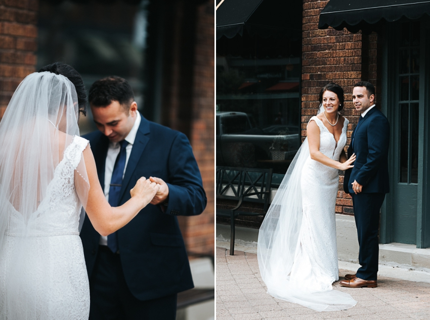 Michael and Holly's first look