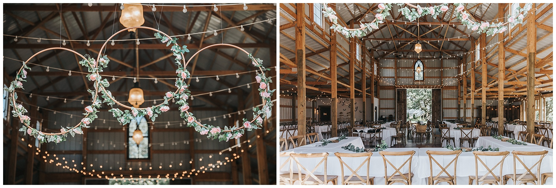 Floral hoops for head table