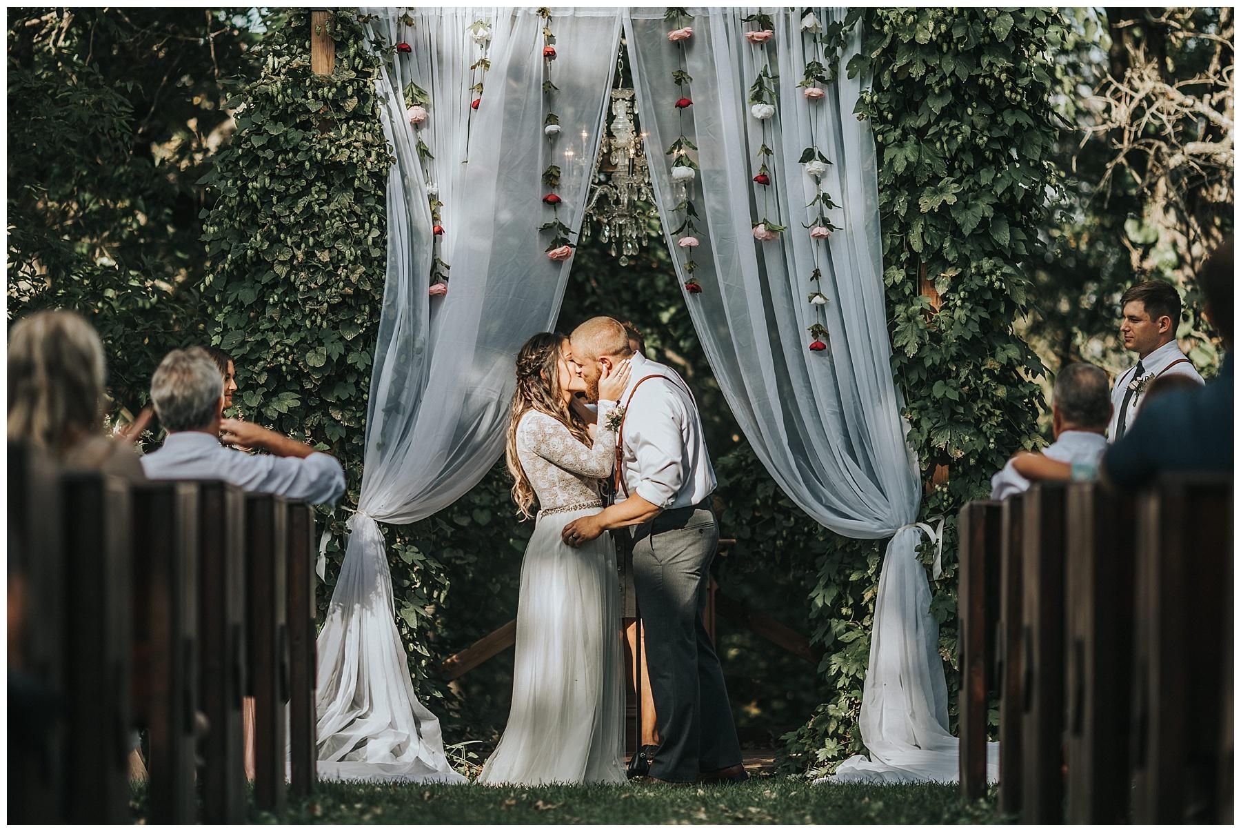 First kiss at Diamond Oak Events