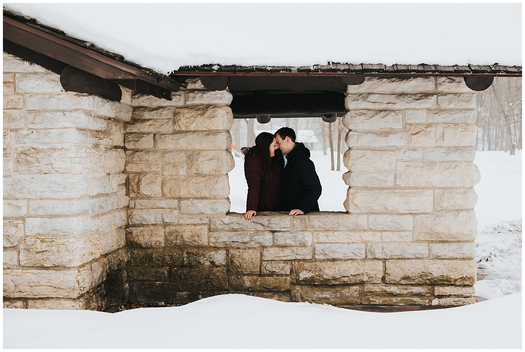 Wintery proposal session in Iowa