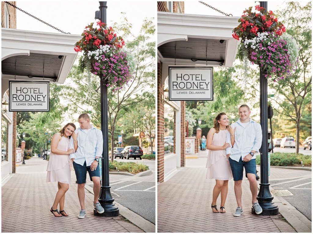 downtown lewes Delaware engagement
