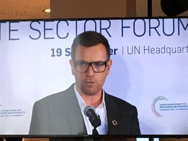 Actor Ewan McGregor Buiness For Peace UN