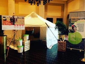 The NRS Refugee Tent and Virtual Reality experience for guests to experience life as a refugee