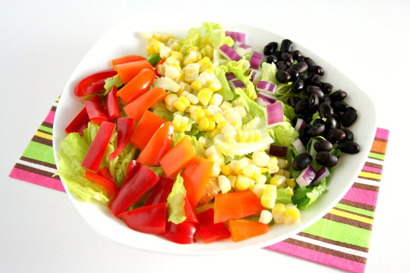 Eating the rainbow has never been easier! Try my vegetarian friendly southwestern chopped salad with honey lime dressing for lunch or dinner today!