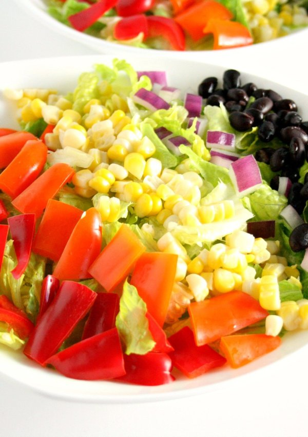Southwestern Chopped Salad with Honey Lime Dressing