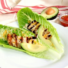 Chicken Lettuce Wrap Tacos