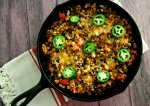 One skillet + 12 ingredients + 30 minutes = one delicious and nutrition dinner the whole family will love. My one pan mexican cauliflower rice skillet is a nutrient packed meal that will have dinner on your kitchen table in no time.